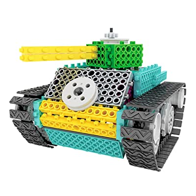 IAMGlobal Robotic Kit, Remote Control Tank Building Blocks, Robot STEM Toy, Building Bricks Toy Kit, Remote Control Machine Educational Learning Robot Kits for Boys Girls (Tank Kit): Toys & Games