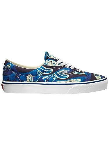 2419b2d30ba8 Image Unavailable. Image not available for. Color  Vans Unisex Era Van  Doren Blue Print Sneakers Low Top Skate Shoes ...