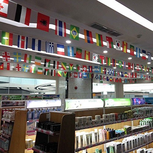 Anself 164ft/ 229ft International String Flag Hanging Flag Banner 200 Countries for Olympic Games Party Celebration by Anself (Image #1)