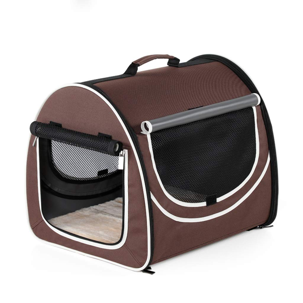 Brown LSLMCS Pet Carrier,Out-of-Port Portable Pet Bag Space Capsule Portable with Cat, Dog Handbag Travel Box Large Backpack. for Excursions (color   Brown)