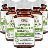 Thrive Naturals Advanced Probiotic Complex 50 Billion CFU's 16 Unique Strains - Supports Digestive & Immune Health (6 Pack)