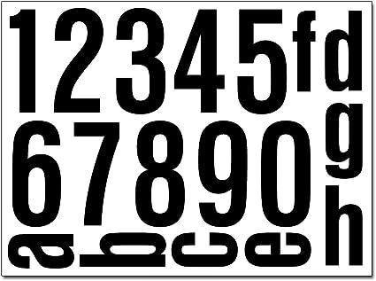 Hausnummern Aufkleber Folien Set Nummern Und Buchstaben Zum Aufkleben Verschiedene Farben Reflektierende Oder Matte Folie Schwarz Matt Küche Haushalt