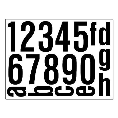 Hausnummern Aufkleber Folien Set Nummern Und Buchstaben Zum Aufkleben Reflektierend Oder Matt Schwarz Matt