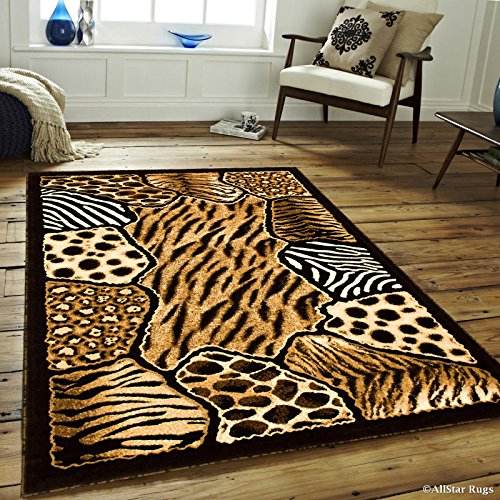 Allstar 5 X 7 Black High Density Exotic Animal Skin Design Area Rug (5′ 2″ X 7′ 2″) Review