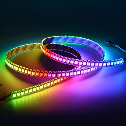 Amazon mokungit ws2812b led strip lights ws2812b individual mokungit ws2812b led strip lights ws2812b individual addressable ws2811 built in 5050 rgb digital dream aloadofball Choice Image