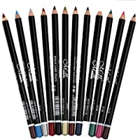 12 Colores Larga Duracion Delineador de ojos Delineador de Labios Lápiz de Cejas Cosméticos de Belleza Maquillaje de Impermeables al Agua