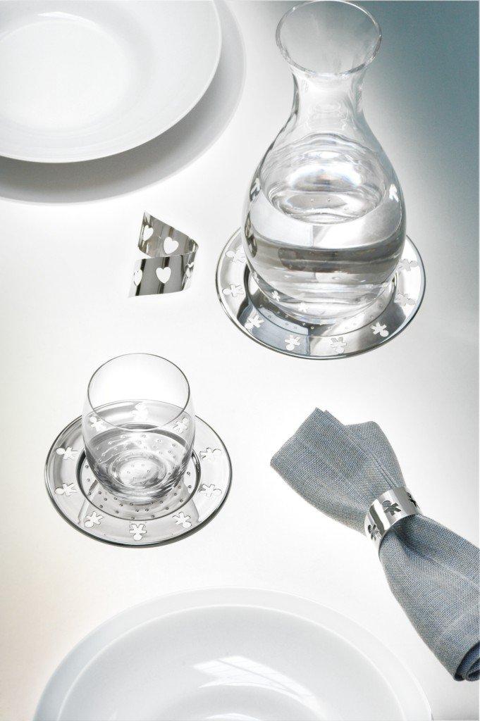Alessi AKK80//15Mini Girotondo Bottle Coasted Silver