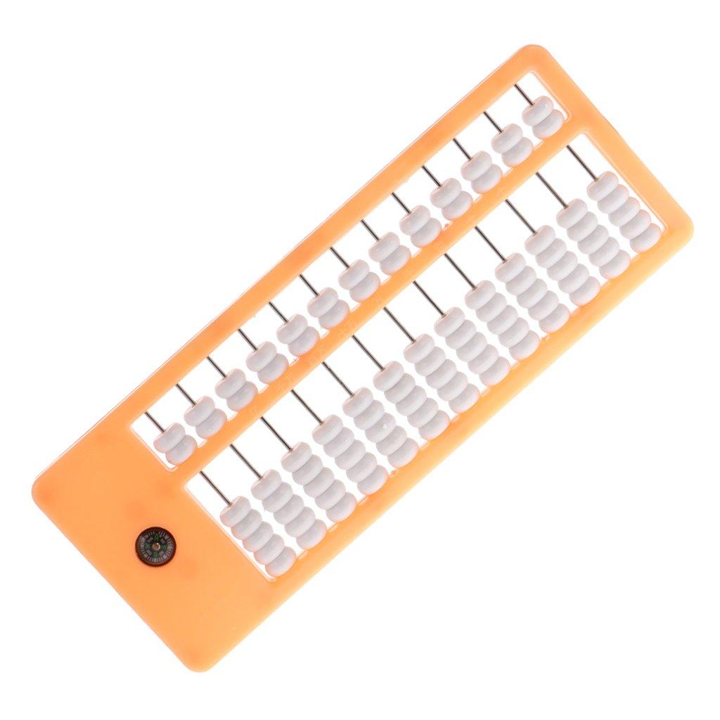 SM SunniMix Boulier Chinois 13 Rang/ées Abaque Jouet /Éducatif Cadeau Orange 10 x 26 x 1.5 cm
