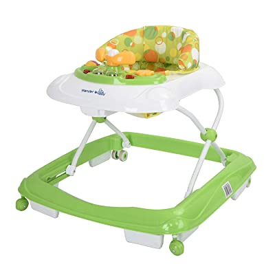 Wonder buggy Learning Walkers for Baby, Removable Activity Toy Tray, 3 Level Adjustable Folding Frame (Green) : Baby