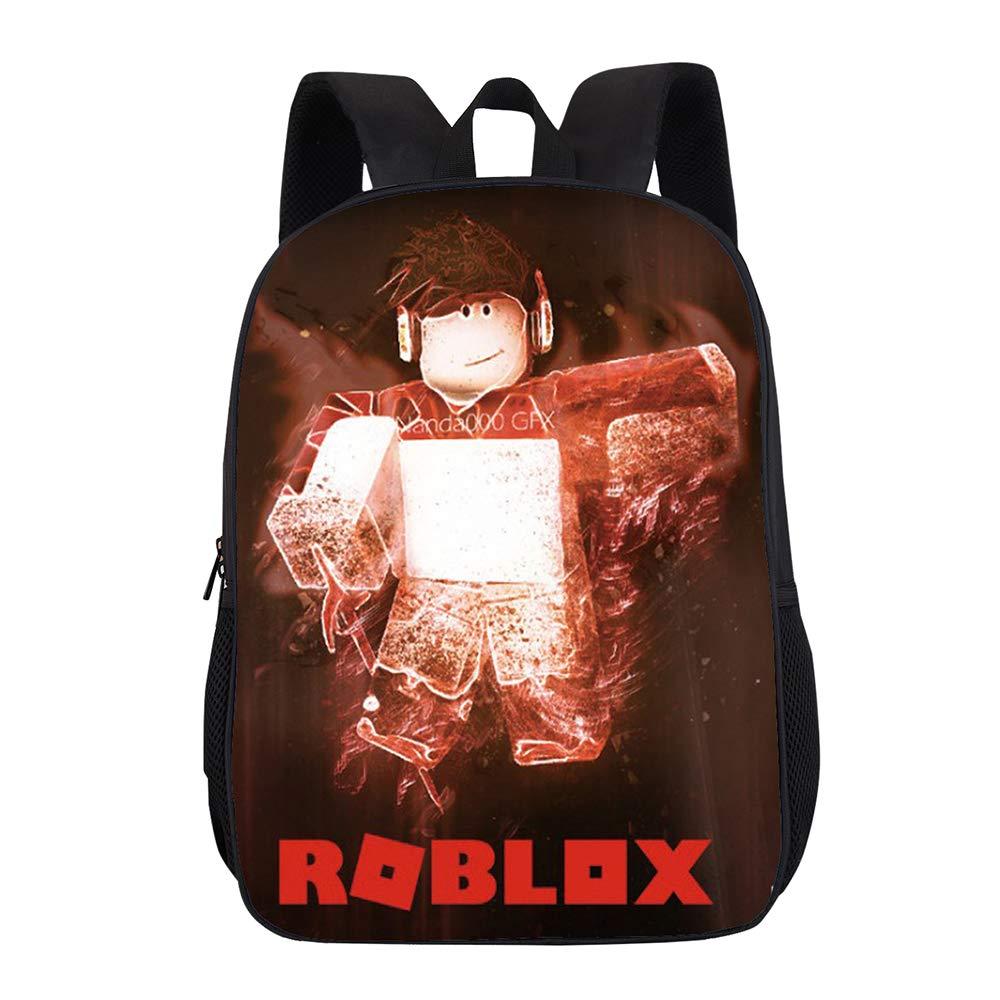 Roblox Mochila Casual Moda Linda impresión niños Escuela Primaria Mochilas niños Bookbag para niños y niñas Unisex (Color...