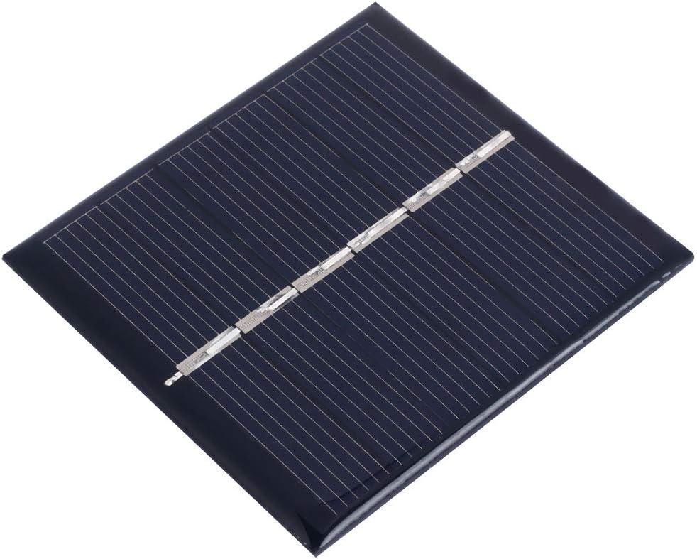 Haihuic Panel Solar Epoxi 3V 150mA 0.45W Célula Solar policristalina para el Kit de Cargador de batería Solar de Bricolaje, Mini Celdas solares