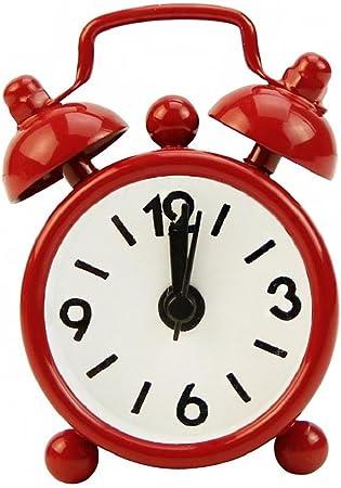 Portable Cute Mini Travel Alarm Clock Round Dial Number Desk Bedside Clocks
