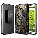 Motorola Droid MAXX 2 Case (Verizon XT1565), NageBee Belt Clip Holster Defender Heavy Duty Shockproof Kickstand Dual Layer Combo Rugged Armor Durable Ultra Protection Case - Camo
