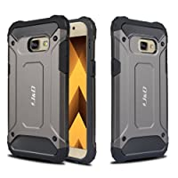 Galaxy A5 2017 Case, J&D [ArmorBox] [Dual Layer] Hybrid Shock Proof Protective Rugged Case for Samsung Galaxy A5 (Release in 2017) - Grey