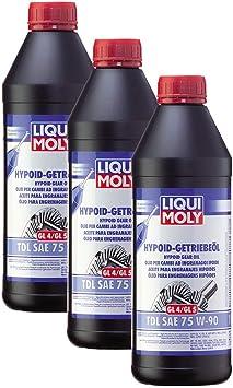 3x Liqui Moly 1407 Hypoid Getriebeöl Tdl Sae 75w 90 1l Auto
