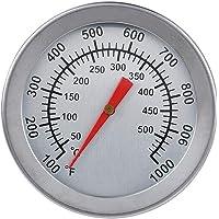 Termómetro bimetálico de acero inoxidable para barbacoa, horno, horno, medidor de temperatura 50-500 °C para hornear