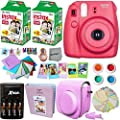 FujiFilm Instax Mini 8 Camera + Accessories KIT for Fujifilm Instax Mini 8 Camera includes: 40 Instax Film + Custom Case + 4 AA Rechargeable Batteries + Assorted Frames + Photo Album + MORE
