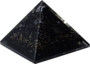 HARMONIZE Black Tourmaline Orgone Pyramid with Healing Crystal Meditaton Yoga Energy Generator Home Office Décor Accessories