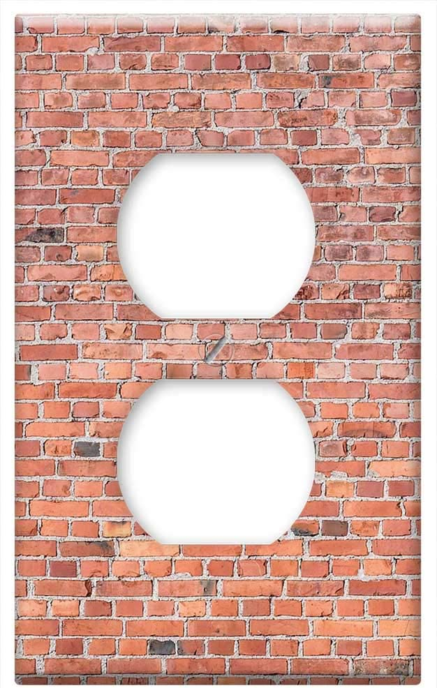 Brick Wall Design Decorative Outlet Wall Plate