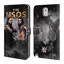 Official WWE LED Image The Usos Leather Book Wallet Case Cover For Samsung Galaxy Note 4