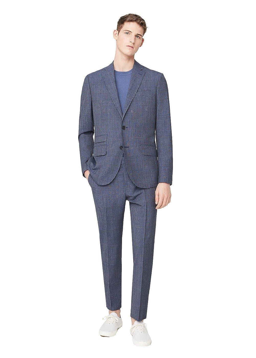 ae9fd6772bf6 MANGO MAN - Veste de costume en laine prince de Blazer Habillé galles -  Taille 56 - Couleur Lavande  Amazon.fr  Vêtements et accessoires