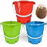 "Jumbo Castle Model Beach Gear 7"" Large Sand Buckets Pails Beach Water Pool Gardening Bath Toy Environmentally ABS Durable Thi"