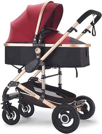 Opinión sobre DDPD Multifuncional 3 en 1 Cochecito de bebé Alto Paisaje Cochecito plegable Carro de bebé Rojo Cochecito recién nacido