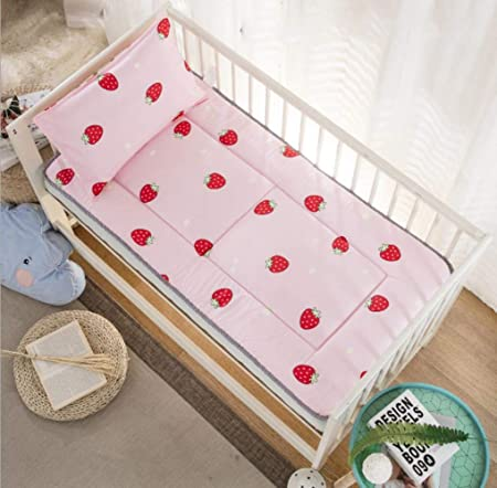 JPZCDK Fundas de colchón de algodón para bebés sábanas Ajustables para Cuna Juego de sábanas para bebés recién Nacidos de impresión Suave Mini sábana para Cuna, Fresa: Amazon.es: Hogar