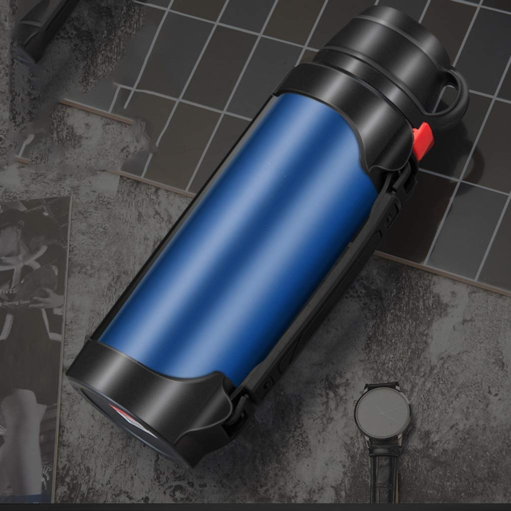 XUEZM Thermosbecher, Blaue Vakuum-Reise-Flasche Kaffeekanne 304 Edelstahl Verbrühungssicher Verbrühungssicher Verbrühungssicher Doppelwandig (Farbe   Blau, größe   1.7L) B07L4X54Y6 | Online-Exportgeschäft  717bd7