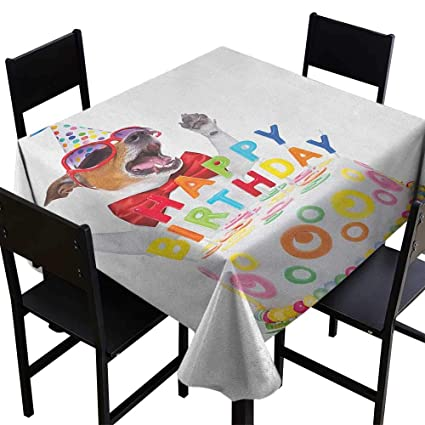 Astonishing Amazon Com Skdsarts Custom Tablecloths Kids Birthday Party Caraccident5 Cool Chair Designs And Ideas Caraccident5Info
