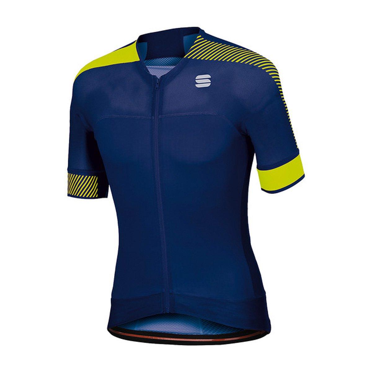 Sportful Bodyfit PRO EVO Jersey - Blau Twilight/Gelb Fluo