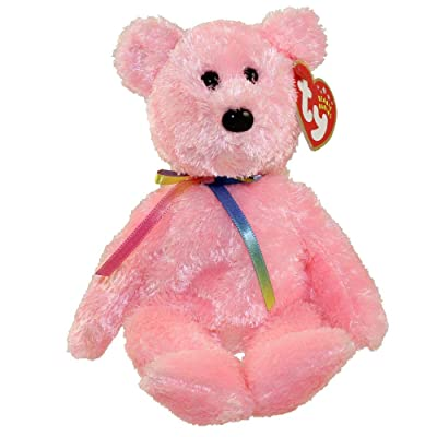 TY Beanie Baby - SHERBET the Bear (Pink Version): Toys & Games
