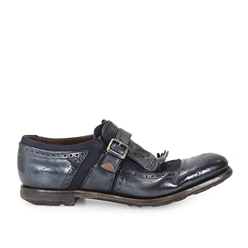 Mocasin Shanghai Glace Calf/Linen Denim Churchs