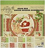 Graphic 45 Twas The Night Before Christmas Paper Pad, 12 by 12-Inch