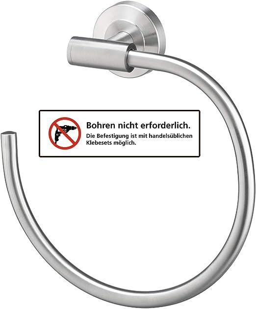 Handtuchstange 2 armig kleben oder bohren Badaccessoires AMARE Handtuchhalter Handtuchhaken Edelstahl