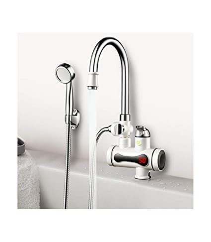 Trade Shop Traesio® Calentador instantáneo de agua caliente para grifo eléctrico, ducha, cocina