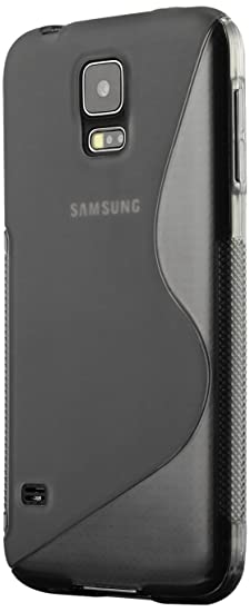 Galaxy S5 Case, Cruzerlite S-Line TPU Case Compatible for Samsung Galaxy S5 - Gray