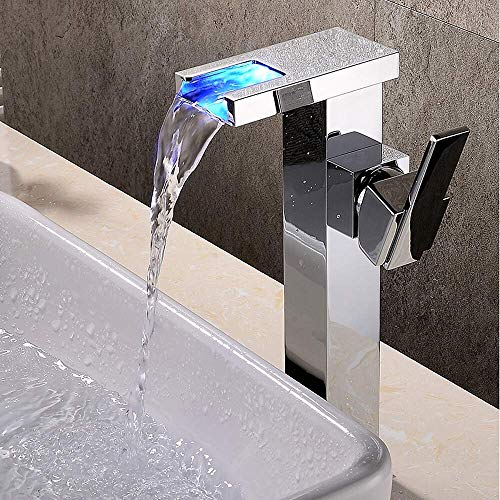 Washbasin tap Bathroom Cascade G n ralis New Design Chrome Single Hole Wall-Mounted Mixer ()
