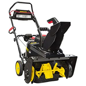Brute 1696666 Single Stage Snow Thrower with Snow Shredder Technology and Electric Start, 22-Inch