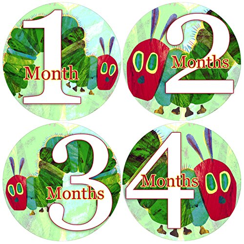 Baby Month Onesie Hungry Caterpillar, Stickers Baby Shower Gift Photo Shower Stickers Baby Photo Onesie Milestone Stickers ()
