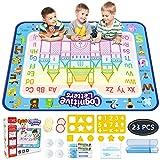 Pizarrones Magicos para Niños Niñas 100x80cm Aqua Doodle Mat Board Grande Tableta de Dibujo Kit Mágico Dibujo de Agua Pintura Pad Desarrolla Inteligente Dibujo de Juguetes para Niño de 2 3 4 5 6 7 años