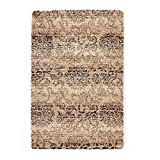Carpet Art Deco Hartford Collection Accent Rug, 3'3'' x5', Light Brown
