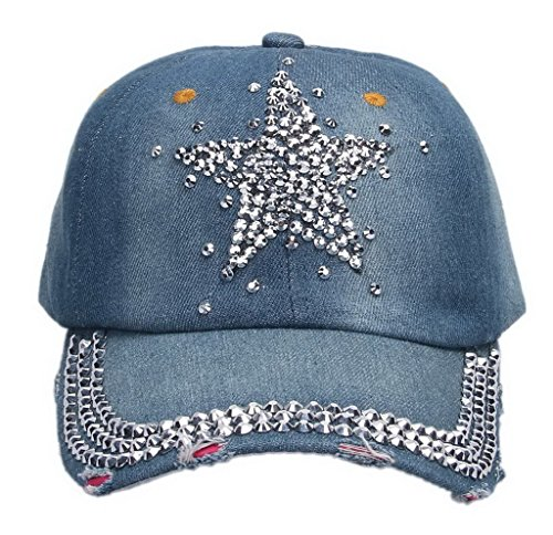 荷物序文追い付くデニムキャップ スポーツキャップ ラインストーンキャップ カジュアルキャップ ベースボールキャップ 野球帽 ダメージ加工 星柄ラインストーン アウトドア帽子 メンズ レディース兼用