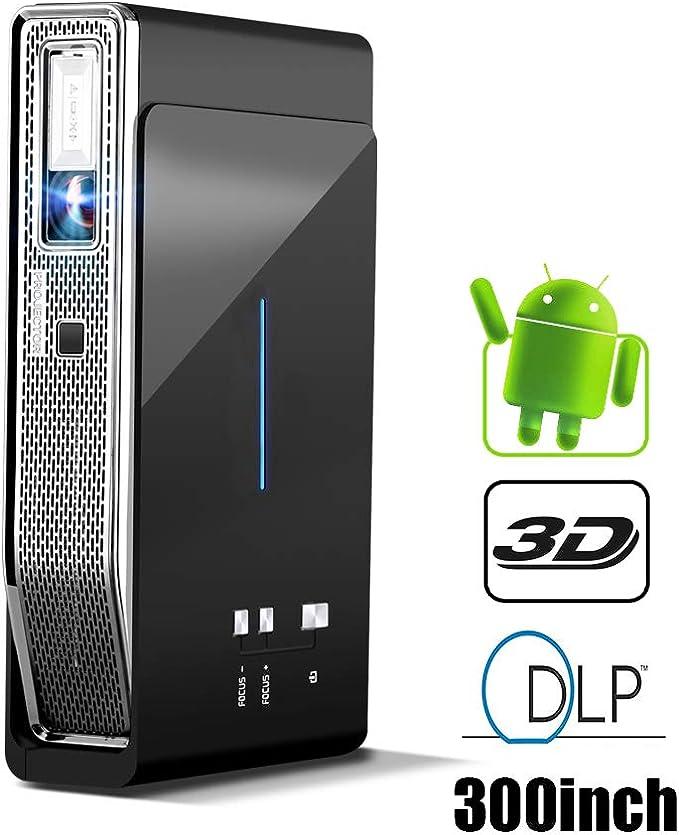 Proyector Android Mini 3D DLP proyector WiFi Cine en casa LED 3D ...