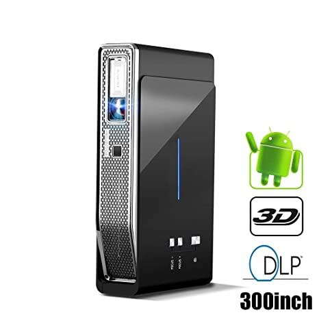 Proyector Android Mini 3D DLP proyector WiFi Cine en casa LED 3D DLP-Link el proyector de vídeo es Compatible con Full HD 1080P 4K HDMI 3800 lúmenes ...