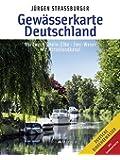 Gewässerkarte Deutschland Nordwest: Rhein – Elbe • Ems – Weser • Mit Mittellandkanal