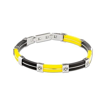 sehr schön 72ad2 09f54 BVB Schmuck Armband Kautschuk schwarz gelb Borussia Dortmund