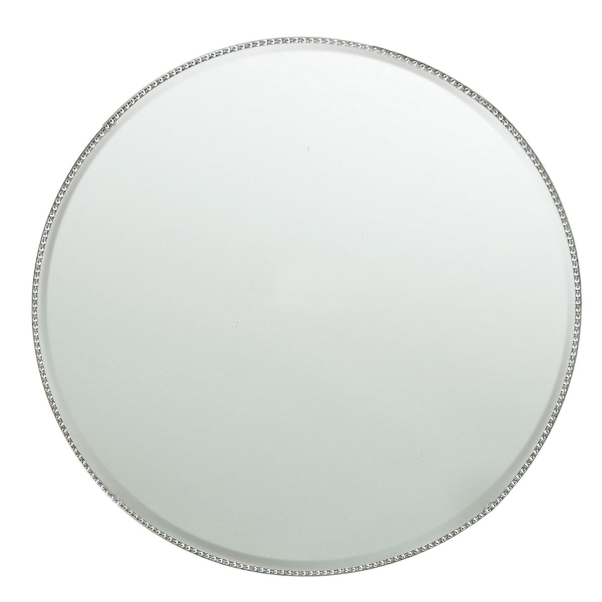 ChargeIt by Jay Bead Rim Mirror Charger Plate/Pillar Plate, Silver 1331677