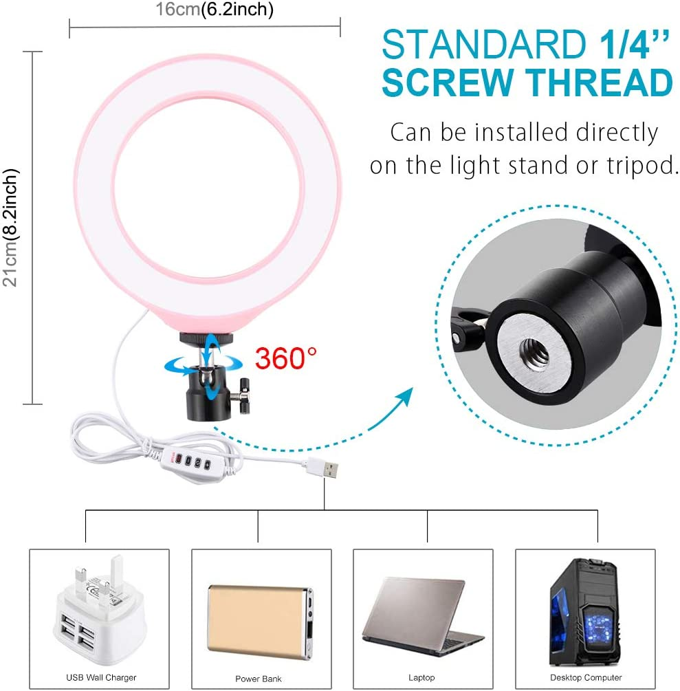 PULUZ 4.7 inch Selfie LED Ring Light Video Lights with Cold Shoe Tripod Ball Head for Make-up and YouTube Video vlogging Equipment