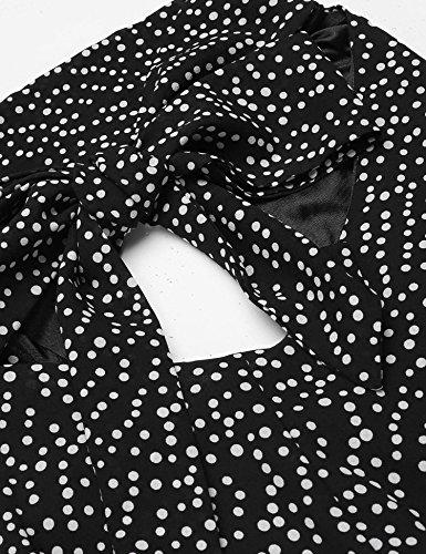 Bifast Femmes Décolleté Cru Cou Slim Fit Licol Clé Trous Balancer Robe Une Ligne Noire